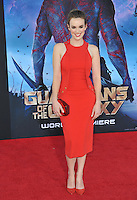 Elizabeth Henstridge at the world premiere of &quot;Guardians of the Galaxy&quot; at the El Capitan Theatre, Hollywood.<br /> July 21, 2014  Los Angeles, CA<br /> Picture: Paul Smith / Featureflash