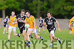 In Action Rangers Brian McGulire gets away from  Ardfert's Kevin Shanahan at the  Garvey's SuperValu Senior County Championship Round 2 Feale Rangers V Ardfert at Frank Sheehy Park, Listowel on Saturday
