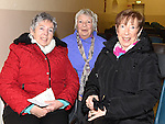 Vera Floody, Noeleen Bell and Joan McEvoy pictured at Limetree Theatre Group's presentation of The Field by John B Keane in Duleek parish centre. Photo:Colin Bell/pressphotos.ie
