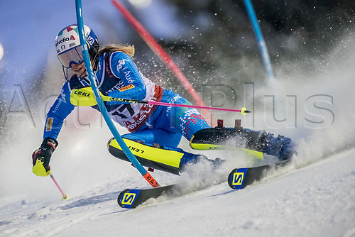 8th February 2019, Are, Sweden; Alpine skiing: Combination, ladies: Marta Bassino from Italy on the slalom course.