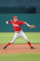 John Aiello (46) of Germantown Academy in Lansdale, Pennsylvania playing for the Philadelphia Phillies scout team during the East Coast Pro Showcase on July 31, 2014 at NBT Bank Stadium in Syracuse, New York.  (Mike Janes/Four Seam Images)
