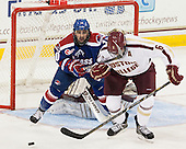 Ryan McGrath (UML - 10), Patrick Wey (BC - 6) - The Boston College Eagles defeated the visiting University of Massachusetts Lowell River Hawks 6-3 on Sunday, October 28, 2012, at Kelley Rink in Conte Forum in Chestnut Hill, Massachusetts.