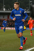 Joe Pigott of AFC Wimbledon during AFC Wimbledon vs Millwall, Emirates FA Cup Football at the Cherry Red Records Stadium on 16th February 2019