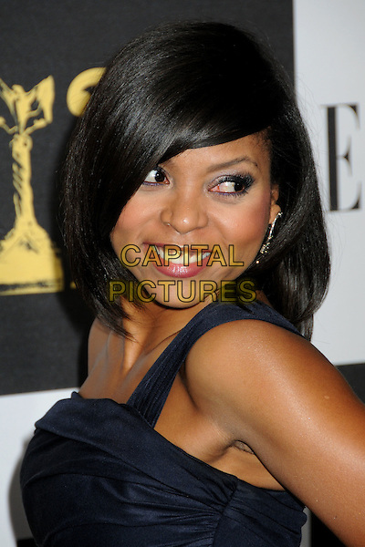 TARAJI P. HENSON.25th Annual Film Independent Spirit Awards - Arrivals held at the Nokia Event Deck at L.A. Live, Los Angeles, California, USA..March 5th, 2010.headshot portrait black dangling silver earrings .CAP/ADM/BP.©Byron Purvis/AdMedia/Capital Pictures.