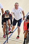 (L-R) Riyu Ota,   Vetu Benoit (JPN), <br /> AUGUST 28, 2018 - Cycling - Track : Women's Keirin Round 1 at Jakarta International Velodrome during the 2018 Jakarta Palembang Asian Games in Jakarta, Indonesia. <br /> (Photo by MATSUO.K/AFLO SPORT)