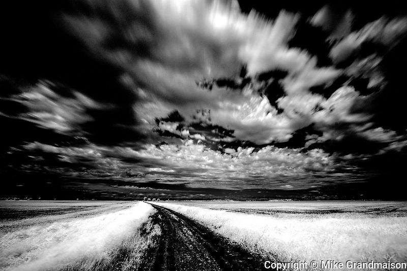 Field and clouds, Winnipeg, Manitoba, Canada