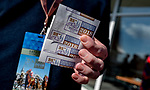 November 3, 2018 : A man places his bets on Breeders Cup World Championships Saturday at Churchill Downs on November 3, 2018 in Louisville, Kentucky. Scott Serio/Eclipse Sportswire/CSM
