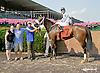 Mary's Mystique winning at Delaware Park on 7/23/14