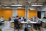 Amsterdam, 31 maart 2009<br /> Industrielinqs<br /> Uitgeverij<br /> Kantoor met variabele verlichting Philips<br /> Foto Felix Kalkman