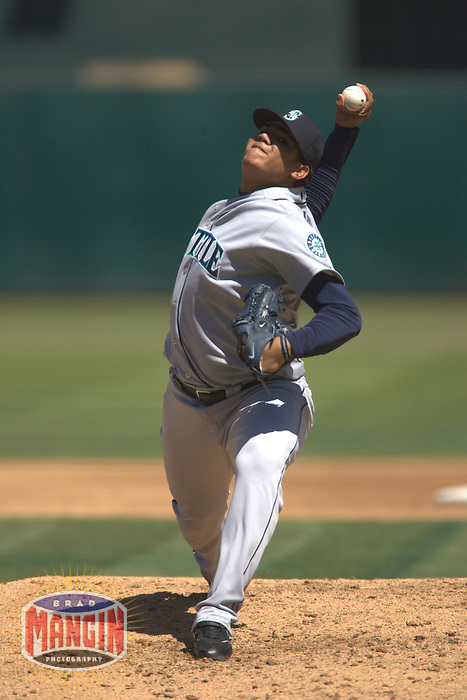 Felix Hernandez. Seattle Mariners vs Oakland Athletics. Oakland, CA 9/5/2005 MANDATORY CREDIT: Brad Mangin