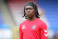Abraham Odoh of Charlton Athletic ahead of kick-off during Welling United vs Charlton Athletic, Friendly Match Football at the Park View Road Ground on 13th July 2019