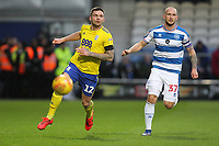 Harlee Dean of Birmingham City and Toni Leistner of QPR during Queens Park Rangers vs Birmingham City, Sky Bet EFL Championship Football at Loftus Road Stadium on 9th February 2019