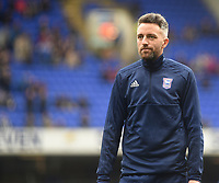 Ipswich Town's Cole Skuse during the pre-match warm-up <br /> <br /> Photographer Hannah Fountain/CameraSport<br /> <br /> The EFL Sky Bet Championship - Ipswich Town v Nottingham Forest - Saturday 16th March 2019 - Portman Road - Ipswich<br /> <br /> World Copyright &copy; 2019 CameraSport. All rights reserved. 43 Linden Ave. Countesthorpe. Leicester. England. LE8 5PG - Tel: +44 (0) 116 277 4147 - admin@camerasport.com - www.camerasport.com