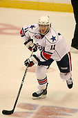 March 13, 2009:  Center Jarret Lukin (11) of the Rochester Amerks, AHL affiliate of the Florida Panthers, in the third period during a game at the Blue Cross Arena in Rochester, NY.  Toronto defeated Rochester 4-2.  Photo copyright Mike Janes Photography 2009