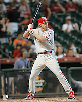 Phillies OF TJ Bohn on Sunday May 25th at Minute Maid Park in Houston, Texas. Photo by Andrew Woolley / Four Seam Images.