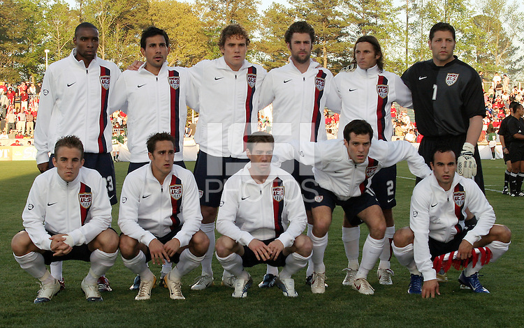 USA starting eleven vs Jamaica. The USA tied Jamaica 1-1 at SAS Soccer Park in Cary, N.C. on April 11, 2006.