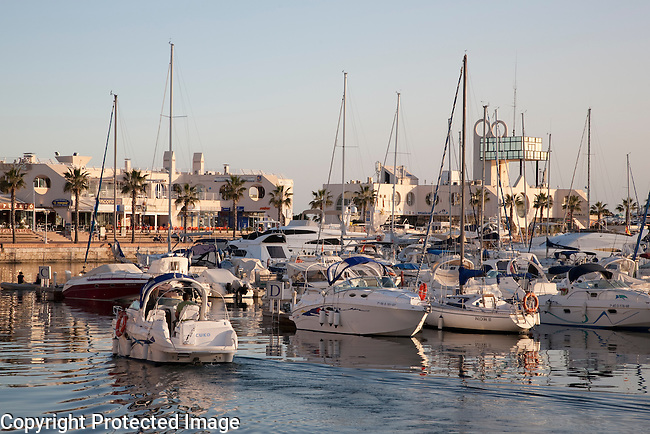Boats in the Harbour of Alicante Port, Spain
