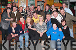 Leaving: Celebrating his departure to Australia in The Huddle Bar, Strand St, Tralee, on Friday was Tommy McGuigan of Spa Road (seated left), along with family and friends..