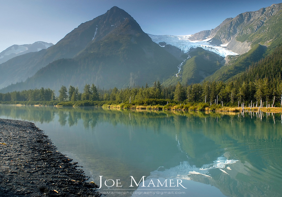 Explorer Glacier and wilderness near Portage, Alaska, USA