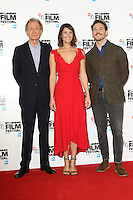 Bill Nighy, Gemma Arterton and Sam Claflin at the London Film Festival Photocall for Their Finest at The Mayfair Hotel, London on October 13th 2016<br /> CAP/ROS<br /> &copy;ROS/Capital Pictures /MediaPunch ***NORTH AND SOUTH AMERICAS ONLY***