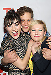"Isabelle Fuhrman, Joe Tippett and Abigail Breslin attend the Opening Night of The New Group World Premiere of ""All The Fine Boys"" at the The Green Fig Urban Eatery on March 1, 2017 in New York City."