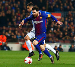 25th September 2018, Camp Nou, Barcelona, Spain; Copa del Rey football, quarter final, second leg, Barcelona versus Espanyol; Leo Messi