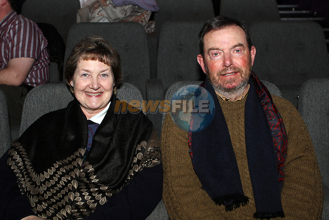 Moya and Tommy McDonnell at Wagner's Parsifal live from the Met in the Droichead Arts Centre...(Photo credit should read Jenny Matthews/NEWSFILE)...
