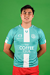 Nicholas Mooney poses for a photo during the Olympic FC men's headshot session at Goodwin Park on January 21, 2018 in Brisbane, Australia. (Photo by Patrick Kearny/Olympic FC)