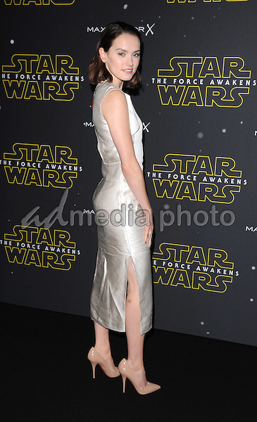 26 November 2015 - London, England - Daisy Ridley. Star Wars Fashion Finds The Force Event at The Old Selfridges Hotel London. Photo Credit: Kate Green/Alpha Press/AdMedia