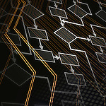 Abstract flowchart diagram. Computer program algorithm.