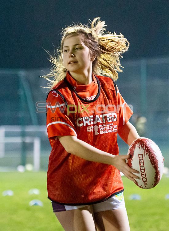 Picture by Allan McKenzie/SWpix.com - 26/02/2019 - Rugby League - CreatedBy RLWC2021 - Castleford Tigers Women - DeLacy Academy, Knottingley, England - Castleford Tigers Women train.