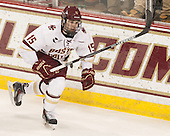 Cam Spiro (BC - 15) - The Boston College Eagles defeated the visiting University of Connecticut Huskies 3-2 on Saturday, January 24, 2015, at Kelley Rink in Conte Forum in Chestnut Hill, Massachusetts.