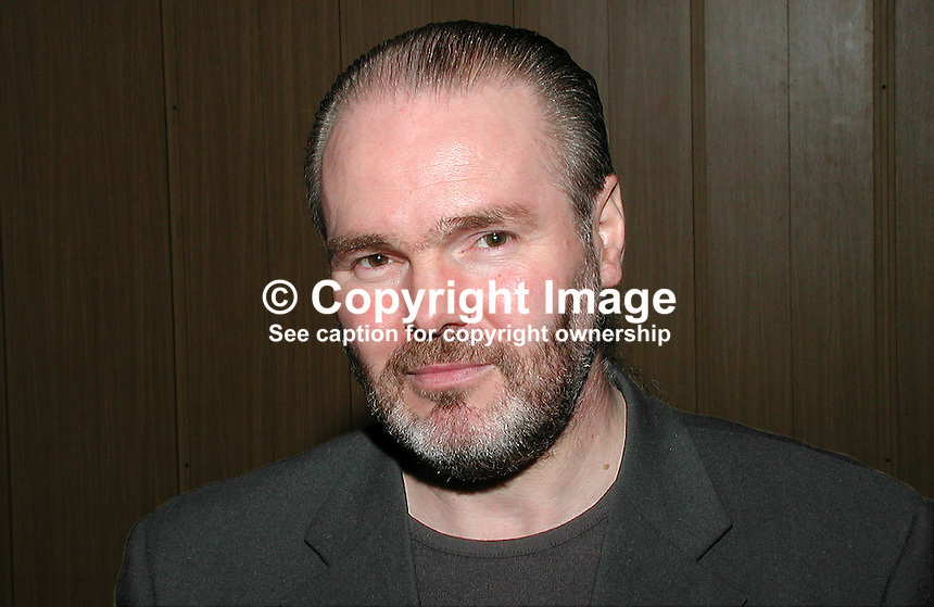 Doug Elliott, member of N Ireland Civic Forum. Member of the Ulster-Scots Heritage Council. Ref: 2001021894. Taken Feb 21, 2001...Copyright Image from Victor Patterson, 54 Dorchester Park, Belfast, UK, BT9 6RJ..Tel: +44 28 9066 1296.Mob: +44 7802 353836.Voicemail +44 20 8816 7153.Skype: victorpattersonbelfast.Email: victorpatterson@mac.com.Email: victorpatterson@ireland.com (back-up)..IMPORTANT: If you wish to use this image or any other of my images please go to www.victorpatterson.com and click on the Terms & Conditions. Then contact me by email or phone with the reference number(s) of the image(s) concerned.