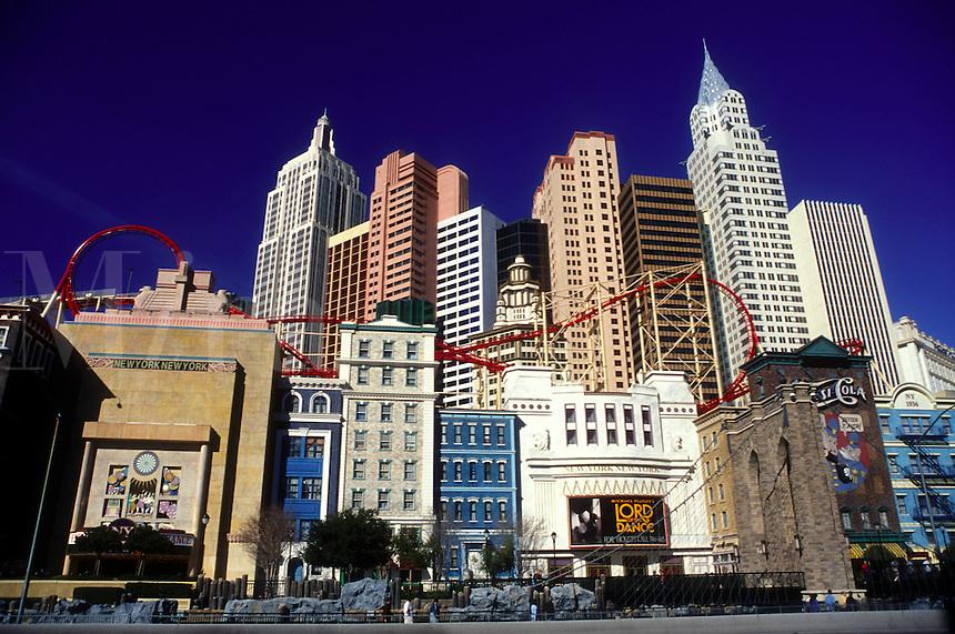 casino, Las Vegas, Nevada, NV, The Strip, New York-New York Hotel & Casino in Las Vegas, the Entertainment Capital of the World.