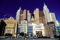 casino, Las Vegas, Nevada, NV, The Strip, New York-New York Hotel & Casino in Las Vegas, the Entertainment Capital of the World.