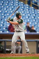 Fort Wayne TinCaps outfielder Michael Gettys (1) at bat during a game against the Lake County Captains on May 20, 2015 at Classic Park in Eastlake, Ohio.  Lake County defeated Fort Wayne 4-3.  (Mike Janes/Four Seam Images)