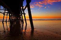 Silhouette of San Clemente Pier in Orange County California