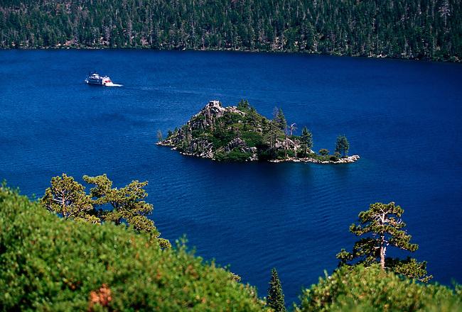 Fannette Island, Emerald Bay, Lake Tahoe, El Dorado County, California, United States, North America
