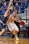 BROOKINGS, SD - NOVEMBER 3:  Reed Tellinghuisen #23 from South Dakota State gets a step past Jack Fiddler #31 from SD School of Mines in the first half of their exhibition game Thursday evening at Frost Arena in Brookings. (Photo by Dave Eggen/Inertia)