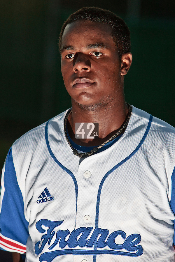 31 July 2010: Omar Williams of Team France is seen after Greece 14-5 win over France, at the 2010 European Championship, in Heidenheim, Germany.