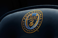 The Philadelphia Union crest on a seat in PPL Park. The Philadelphia Union defeated Toronto FC 2-1 on a second half stoppage time goal during a Major League Soccer (MLS) match at PPL Park in Chester, PA, on July 17, 2010.