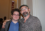 "Guiding Light's Ritchie Coster ""Nate/Alfred"" in Hamlet on August 13, 2017 and poses with Kameron Maxwell at the Public Theatre, New York City, New York. (Photo by Sue Coflin/Max Photos)"