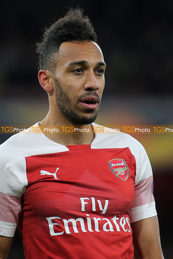 Pierre-Emerick Aubameyang of Arsenal during Arsenal vs Napoli, UEFA Europa League Football at the Emirates Stadium on 11th April 2019