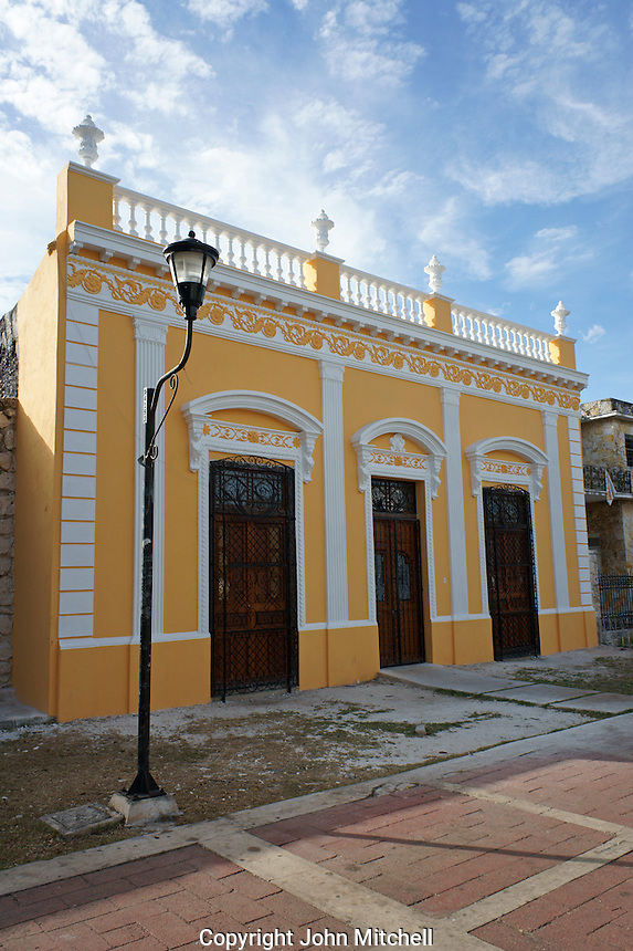 Restored 19th century house on the Paseo de Montejo in Merida, Yucatan, Mexico.