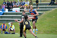 Action from the Ki o Rahi - CSW Senior Tournament at Tawa College, Tawa, New Zealand on Thursday 22 October 2015.<br /> Photo by Masanori Udagawa. www.photowellington.photoshelter.com.