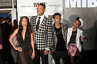 Jada Pinkett Smith, Will Smith, Jaden Smith and Willow Smith at the Men In Black 3 premiere at The Ziegfeld Theater in New York City. May 23, 2012. © Kristin Driscoll/MediaPunch Inc.