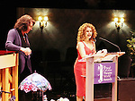 Bernadette Peters receives John Willis Award from Lynn Meadow - 72nd Annual Theatre World Awards hosted by Peter Filichia at Circle in the Square Theatre on May 23, 1916 in New York City, New York. (Photo by Sue Coflin/Max Photos)