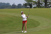 Nelly Korda (USA) in action on the 18th during Round 3 of the HSBC Womens Champions 2018 at Sentosa Golf Club on the Saturday 3rd March 2018.<br /> Picture:  Thos Caffrey / www.golffile.ie<br /> <br /> All photo usage must carry mandatory copyright credit (&copy; Golffile | Thos Caffrey)