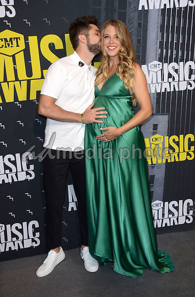 07 June 2017 - Nashville, Tennessee - Lauren Gregory, Thomas Rhett. 2017 CMT Music Awards held at Music City Center. Photo Credit: Tonya Wise/AdMedia