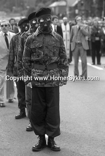 Northern Ireland The Troubles. 1980s. 1981 Teenage IRA paramilitary soldiers attend as guard of honour at the funeral of Hunger Striker, Joe McDonnell.